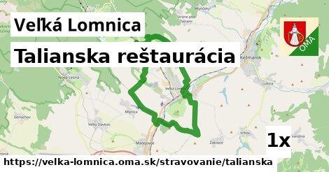 talianska reštaurácia v Veľká Lomnica