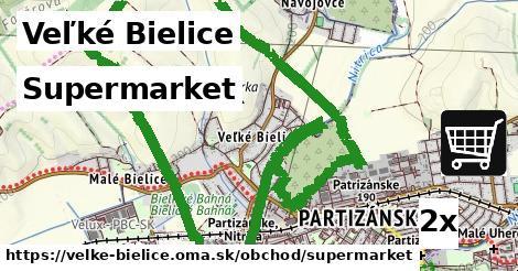 supermarket v Veľké Bielice