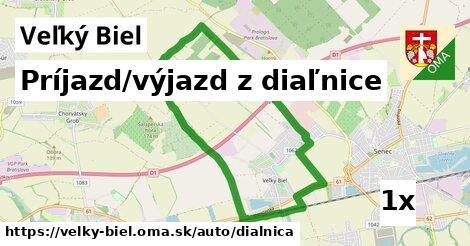 príjazd/výjazd z diaľnice v Veľký Biel