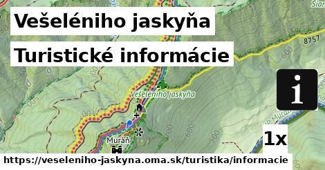 turistické informácie v Vešeléniho jaskyňa