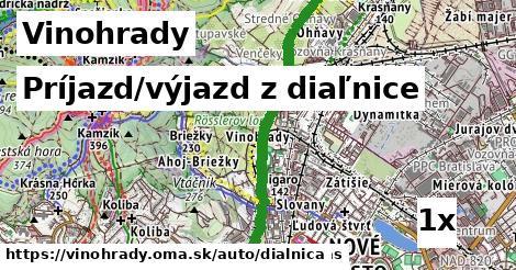 ilustračný obrázok k Príjazd/výjazd z diaľnice, Vinohrady
