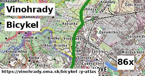 bicykel v Vinohrady