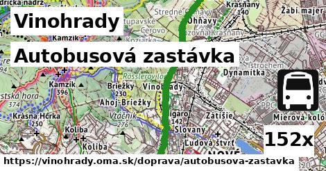 autobusová zastávka v Vinohrady
