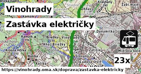 zastávka električky v Vinohrady