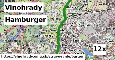 hamburger v Vinohrady