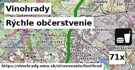 rýchle občerstvenie v Vinohrady