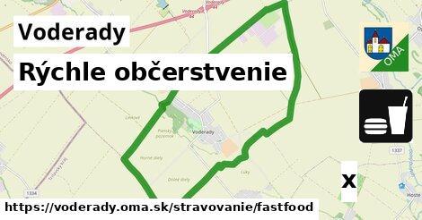 rýchle občerstvenie v Voderady