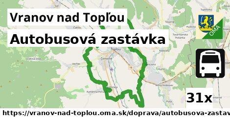 autobusová zastávka v Vranov nad Topľou