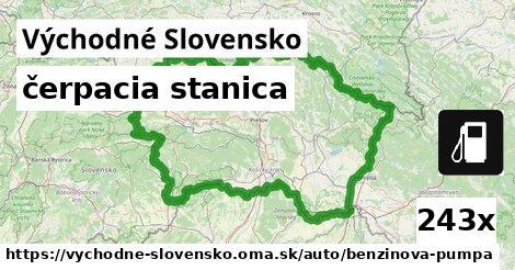 čerpacia stanica v Východné Slovensko