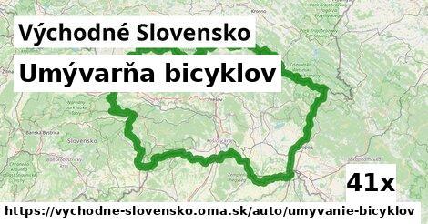 umývarňa bicyklov v Východné Slovensko