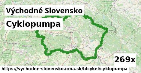 cyklopumpa v Východné Slovensko