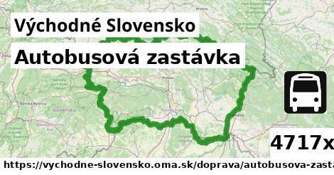 autobusová zastávka v Východné Slovensko