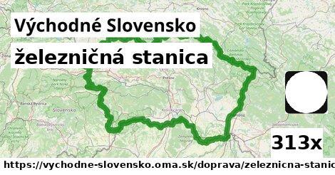ilustračný obrázok k železničná stanica, Východné Slovensko