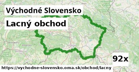 lacný obchod v Východné Slovensko