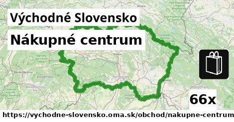nákupné centrum v Východné Slovensko