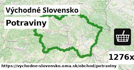 potraviny v Východné Slovensko