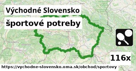 športové potreby v Východné Slovensko