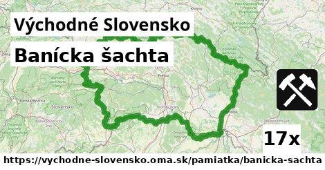 banícka šachta v Východné Slovensko
