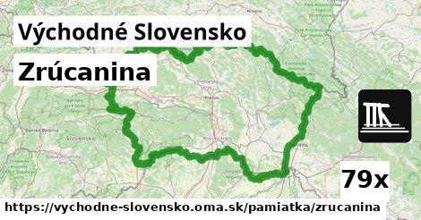 zrúcanina v Východné Slovensko