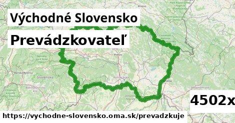 prevádzkovateľ v Východné Slovensko