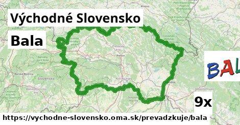 Bala v Východné Slovensko