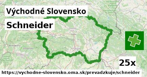 Schneider v Východné Slovensko
