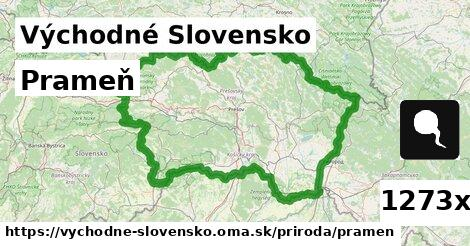 prameň v Východné Slovensko