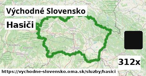 hasiči v Východné Slovensko
