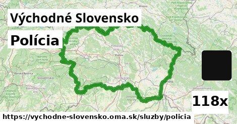 polícia v Východné Slovensko