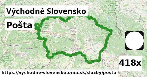 pošta v Východné Slovensko