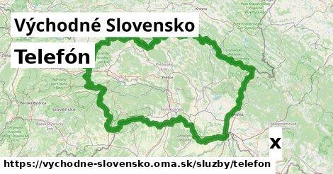 telefón v Východné Slovensko