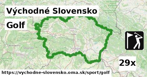 golf v Východné Slovensko