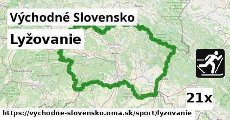 lyžovanie v Východné Slovensko