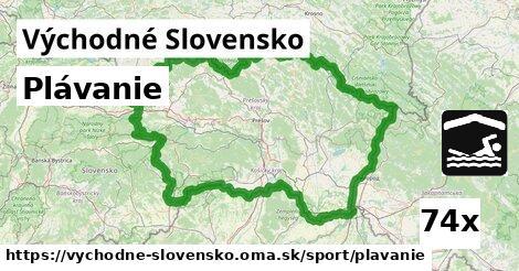 plávanie v Východné Slovensko