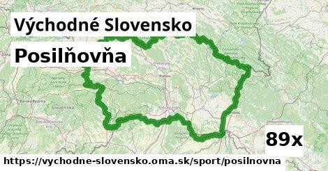 posilňovňa v Východné Slovensko