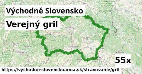 verejný gril v Východné Slovensko