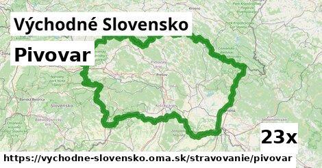 ilustračný obrázok k Pivovar, Východné Slovensko