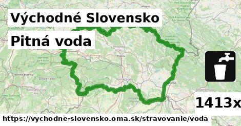 pitná voda v Východné Slovensko