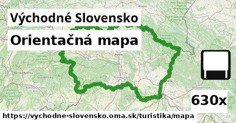 ilustračný obrázok k Orientačná mapa, Východné Slovensko