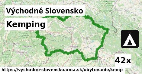 kemping v Východné Slovensko