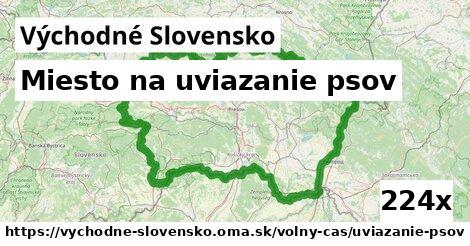 miesto na uviazanie psov v Východné Slovensko