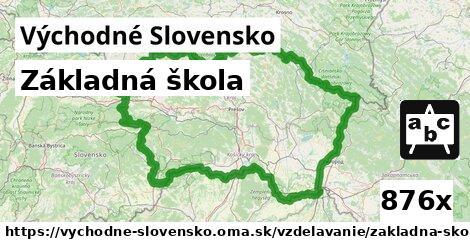 ilustračný obrázok k Základná škola, Východné Slovensko