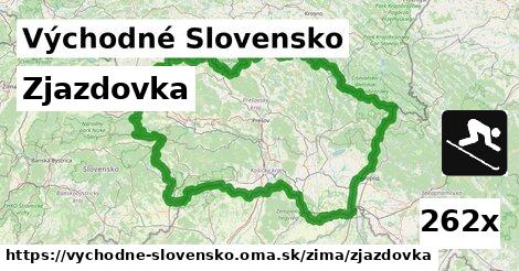 ilustračný obrázok k Zjazdovka, Východné Slovensko