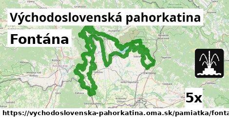 ilustračný obrázok k Fontána, Východoslovenská pahorkatina