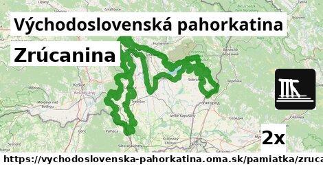 ilustračný obrázok k Zrúcanina, Východoslovenská pahorkatina