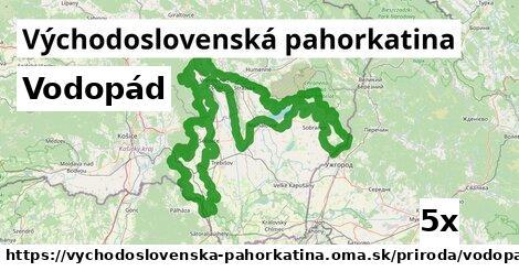 ilustračný obrázok k Vodopád, Východoslovenská pahorkatina