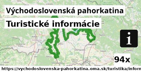 ilustračný obrázok k Turistické informácie, Východoslovenská pahorkatina
