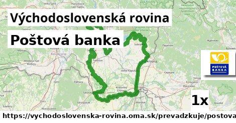 ilustračný obrázok k Poštová banka, Východoslovenská rovina