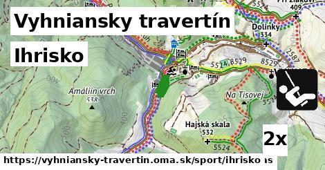 ihrisko v Vyhniansky travertín