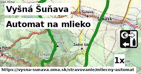 automat na mlieko v Vyšná Šuňava